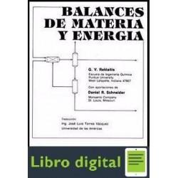 Balances De Materia Y Energia Rekalitis