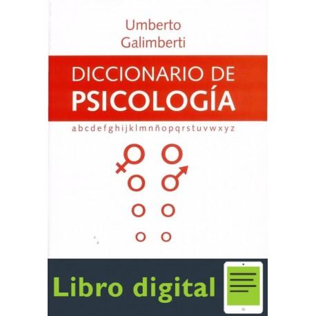Diccionario De Psicologia Umberto Galimberti