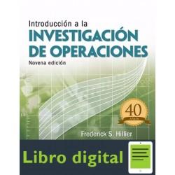 Introduccion A La Investigacion De Operaciones Frederick Hillier 9 edicion