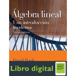Algebra Lineal Una Introduccion Moderna David Poole 3 edicion