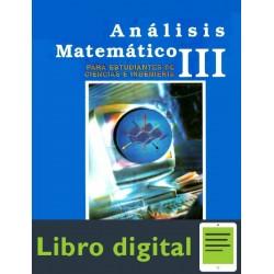 Analisis Matematico Ill Para Estudiantes De