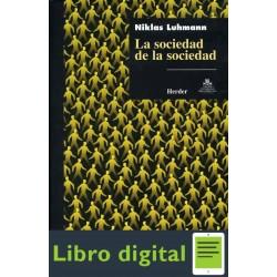 La Sociedad De La Sociedad Niklas Luhmann