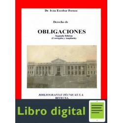 Derecho De Obligaciones Ivan Escobar Fornos