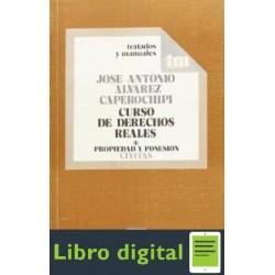 Derechos Reales Tomo I Jose A Alvarez Caperochi
