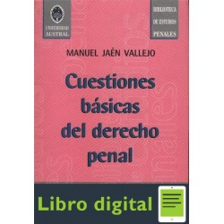 Cuestiones Basicas De Derecho Penal Jaen Vallejo Manuel