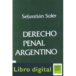 Derecho Penal Argentino Tomo Iv Soler Sebastian