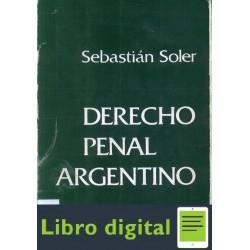 Derecho Penal Argentino Tomo I Soler Sebastian