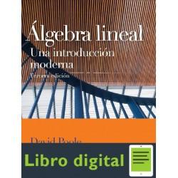 Algebra Lineal Una Introduccion Moderna Poole