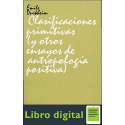 Clasificaciones Primitivas Ensayos De Antropologia Positiva