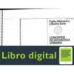 Altamirano Carlos Conceptos De Sociologia Literaria