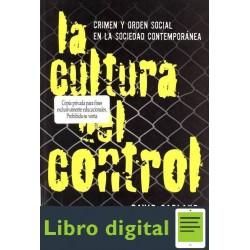 David Garland La Cultura Del Control