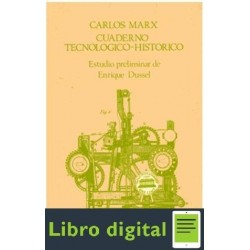 Cuaderno Tecnologico Historico De Carlos Marx