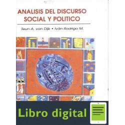 Analisis Del Discurso Social Y Politico Van Dijk