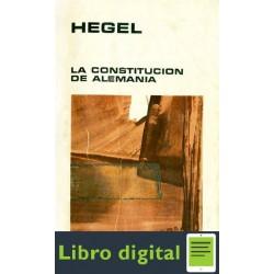 Hegel G W F La Constitucion De Alemania